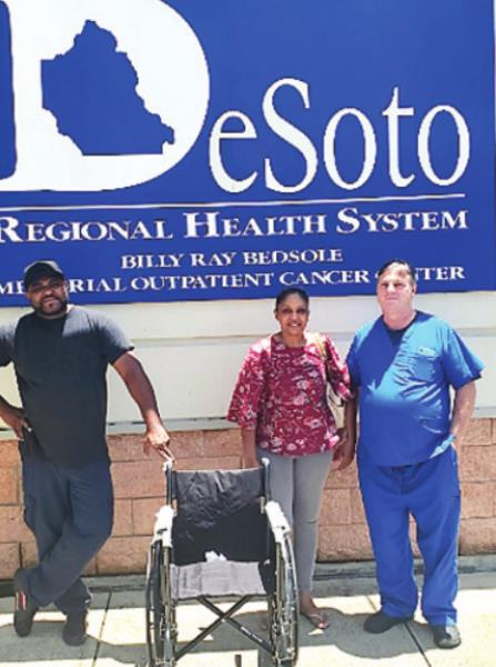 Grateful Family Donates Wheelchair in Honor of Dr. Leggio to DRHS