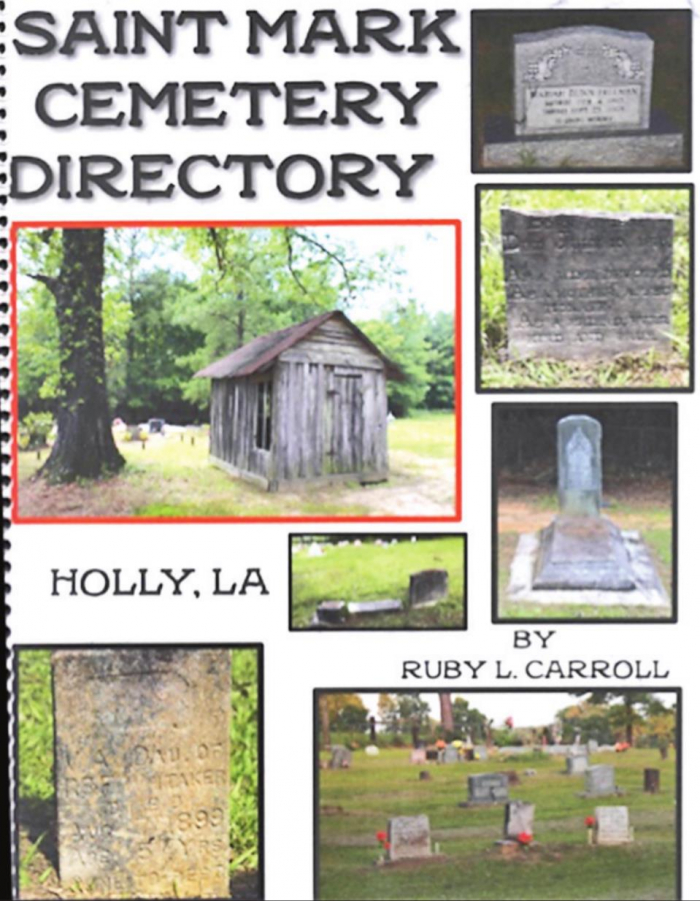 """Local Author Donates """"St. Mark Cemetery Directory - Holly, LA"""" to DeSoto Library"""