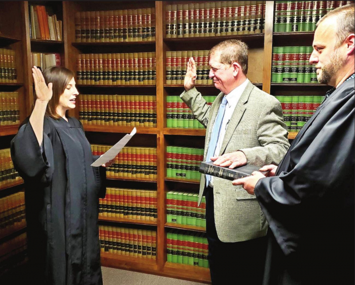 Charles Adams Administered Oath of Office; Begins Term as District Attorney on January 11