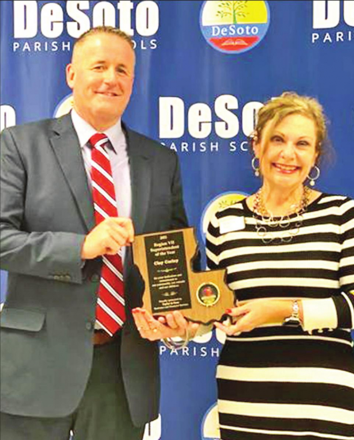 DeSoto's Clay Corley Recognized as Region VII Superintendent of Schools