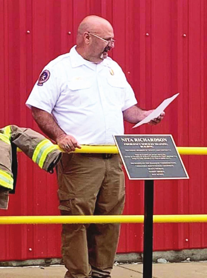 DeSoto Fire District 8 Dedicates Building to Late Board Member
