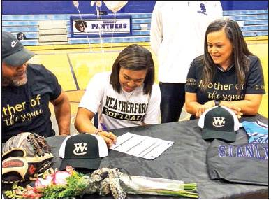 Destiney Jones of Stanley Signs Full Scholarship with Weatherford College