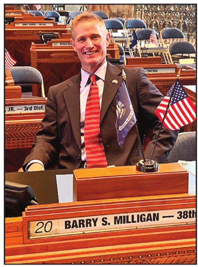 Sen. Barry Milligan Takes Oath of Office in Inaugural Ceremonies