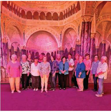 Stonewall Homemakers Club Visits Scottish Rite Cathedral
