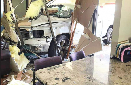 Pickup Crashes Through Mansfield Law Firm