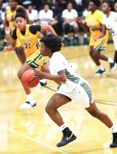 Lady Wolverines Dominate Lady Giants with a 63-27 Win