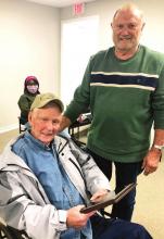 Logansport Mayor, Council Present Appreciation Plaque to Norman Arbuckle