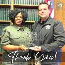 DPSO Officials Salute Dy. Vanessa Youngblood