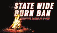Statewide Burn Ban Issued During Public Health Emergency