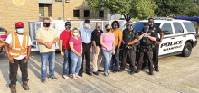 Mansfield Police Gather Donations, Deliver Them for Hurricane Ira Victims