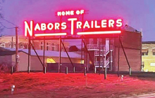 A Dream to Preserve History Becomes Reality: Nabors Trailers Sign Rededicated at New Location