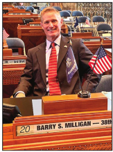 Sen. Barry Milligan Takes Oath of Office in Inaugural Ceremonies
