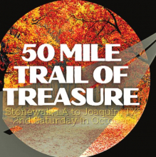 50 Mile Trail of Treasure Rescheduled for Oct. 17