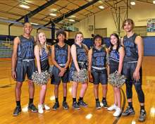 Stanley High School Senior Basketball and Cheerleaders